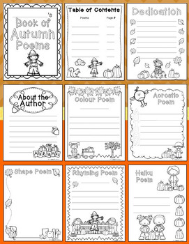 Autumn Poetry Writing Unit