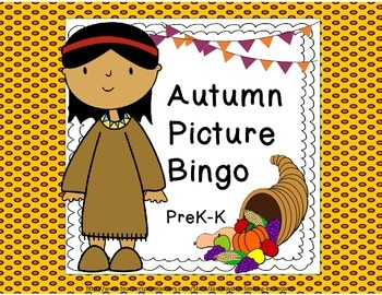 Autumn PreK-K  Two Pack Games- Memory and Picture Bingo