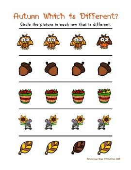 Autumn PreK Printable Learning Pack