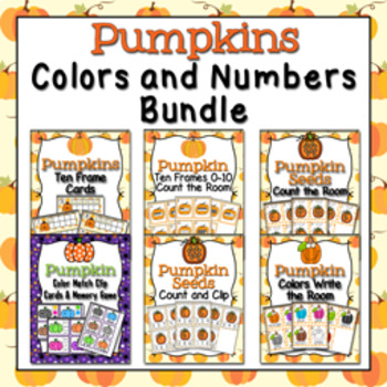 Autumn Pumpkin Colors and Numbers Bundle