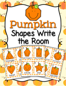Autumn Pumpkin Shapes Write the Room
