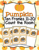 Autumn Pumpkin Ten Frames 11-20 Count the Room