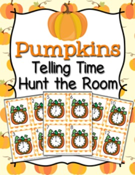 Autumn Pumpkins Time to the Hour Hunt the Room
