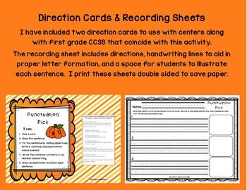 Autumn Punctuation Pick! Growing BUNDLE Sentence Practice