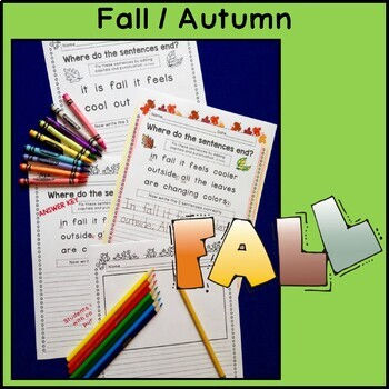 Autumn BUNDLE - Punctuation and Capitalization: Where do the sentences end?