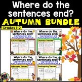 Autumn/Fall BUNDLE - Punctuation and Capitalization: Where do the sentences end?