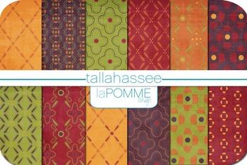 Autumn Purple, Green, Orange, & Green Patterned Digital Paper Pack