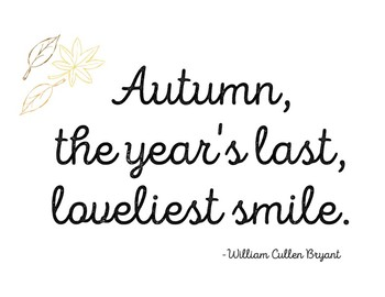 Autumn Quote Printable