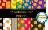 Autumn Rain Digital Paper