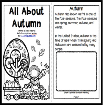 Autumn Reader: All About Autumn  {Interactive Reader}