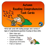 Autumn Reading Comprehension Task Cards