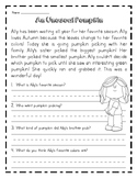 Autumn Reading Comprehension Worksheet