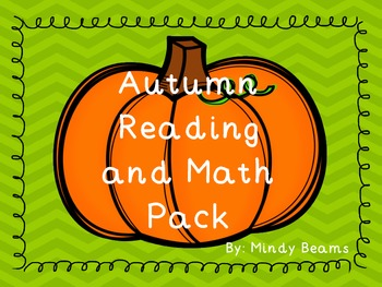 Reading and Math Activity Pack - Fall Themed