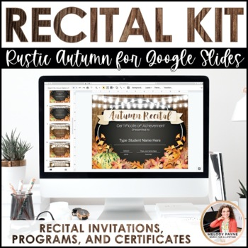 Autumn Recital Kit {EDITABLE}: Invitations, Program Templates, & Certificates
