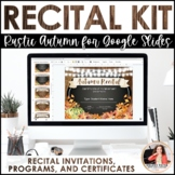 Autumn Recital Kit {EDITABLE}: Invitations, Program Templates, & Certificates
