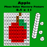 Autumn Red Apple Place Value Math Mystery Picture - 8.5x11 - Back To School