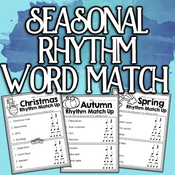 Autumn Rhythm Match-up Worksheet