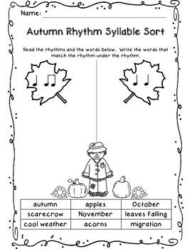 Autumn Rhythm Sort
