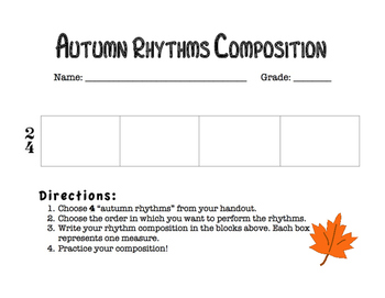 Autumn / Fall Rhythms: Composition & Drum Circle Activity