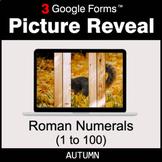 Autumn: Roman Numerals (1 to 100) - Google Forms Math Game