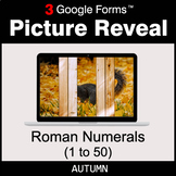 Autumn: Roman Numerals (1 to 50) - Google Forms Math Game