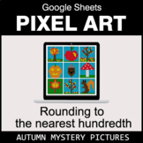 Autumn: Rounding to the nearest 100th - Google Sheets Pixel Art