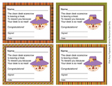 Autumn Scarecrow Clean Desk Awards