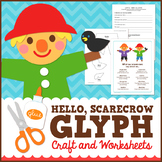 Scarecrow Fall Math Activity - Glyph Craft with Worksheets