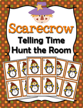 Autumn Scarecrow Time to the Hour Hunt the Room