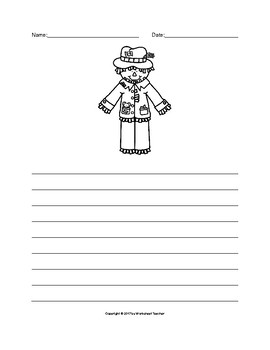 Autumn Scarecrow Writing Paper Set