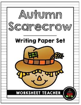 Autumn Scarecrow Writing Paper Set