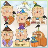 Autumn Scarecrows Clip Art 1 - Fall / Autumn Clip Art - CU