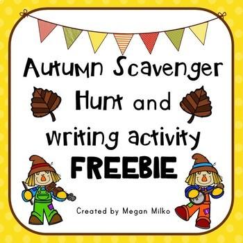 Autumn Scavenger Hunt FREEBIE