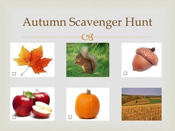 Autumn Scavenger Hunt Sheet