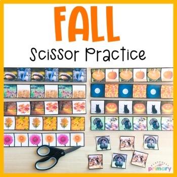 Autumn Scissor Practice | Cutting Strips