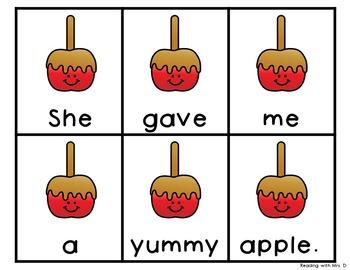 Autumn Scrambled Sentences