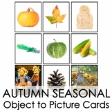 Autumn Seasonal Montessori Object-to-Picture Cards, No Prep!