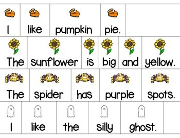 Autumn Sentence Scramble