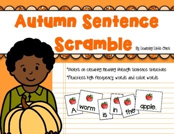 Autumn Sentence Scramble