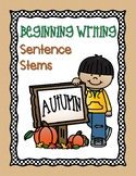 Autumn Sentence Stems Freebie