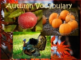 Autumn (September, October, November) Thematic Vocabulary