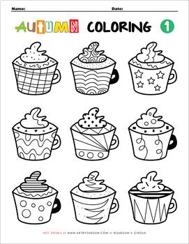 Autumn Coloring Pages (Set #1)