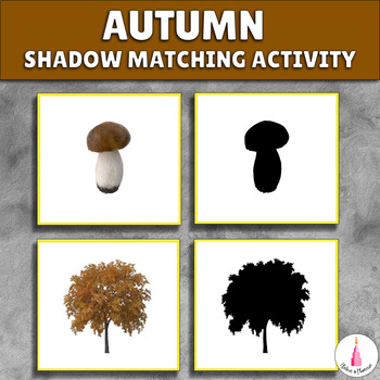 Autumn Shadow Matching Activity