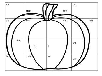 Autumn Sight Word Puzzles