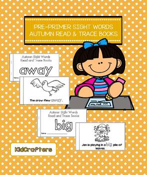 Autumn Sight Word Read and Trace Book