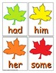Autumn Sight Word Recognition Center or Whole Group Game for First Grade