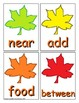 Autumn Sight Word Recognition Center or Whole Group Game for Fry 201-300