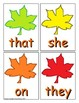 Autumn Sight Word Recognition Center or Whole Group Game for Primer