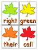 Autumn Sight Word Recognition Center or Whole Group Game for Second Grade