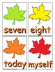 Autumn Sight Word Recognition Center or Whole Group Game for Third Grade